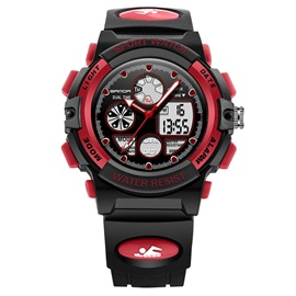 Multifunctional Stopwatch Calendar Luminous Alarm Waterproof Plastic Digital Sports Student Men's Watches