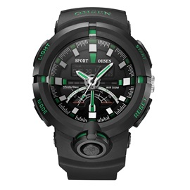 Outdoor LED Display Multifunctional Silicone Quartz Men's Watches