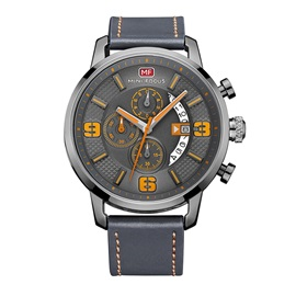 Multifunctional PU Band Quartz Men's Watch