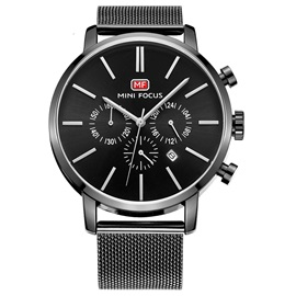 Analogue Display Hardlex Glass Men's Strap Watch