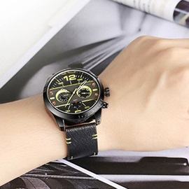 Colored Unique Surface Analogue PU Men's Watch