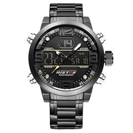 Luminous Point with Calendar Stainless Steel Men's Watch