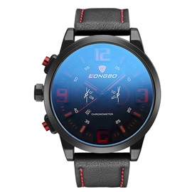 Color Block Surface Perpetual Calendar Men's Sports Watch