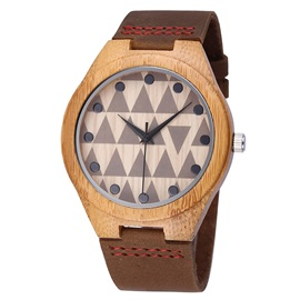 Natural Bamboo Case Pin Buckle Lovers' Watches