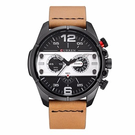 Arabic Numerals Large Surface Pin Buckle Men's Watch