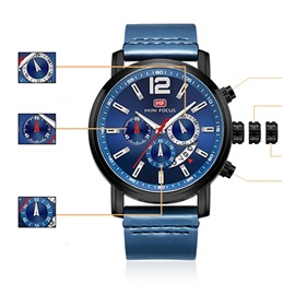 Analogue Display Hardlex Quartz Perpetual Calendar Men's Watches