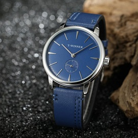 Water Resistant Analog Display PU Leather Men's Watches