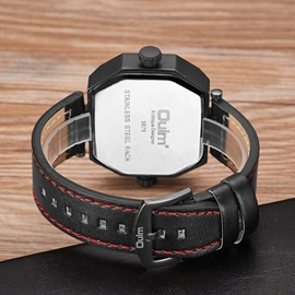 Round Glass Surface Analogue Display Men's Watches