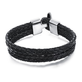 Four-layer Weaved with Metal Buckle Men's Bracelet