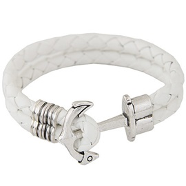 Double Layers PU Anchor Men's Bracelet