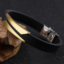 Classic Simple Men's Strap Bracelet