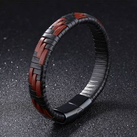 Contrast-Color Woven Men's Bracelet
