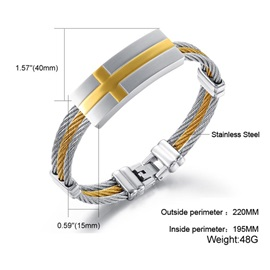 Trendy Titanium Steel Men's Bracelet
