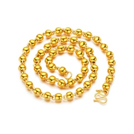 Hot Sale Bead Gold Plating Men's Necklace