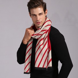 British Style Red Stripes Men's Scarf