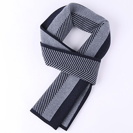 Leisure Warm Wavy Design Men's Scarf