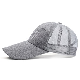 Fashion Mesh Embroidered Men's Outdoor Hat