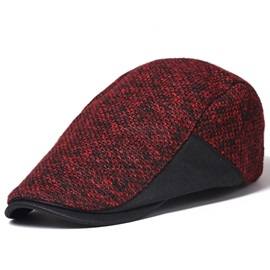 Wool Blends All Matched Men's Peaked Cap