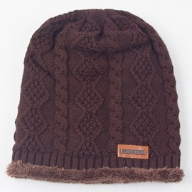 Twist Crochet Design Men's Knitted Hat