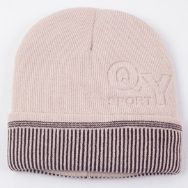 Solid Color Letters Embossed Men's Knitted Hat