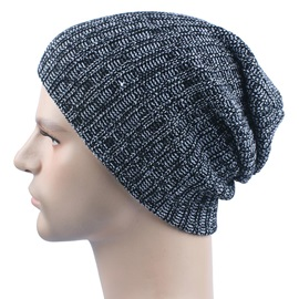 Winter Outdoor Skiing Woolen Yarn Knitted Men's Skullies & Beanies Hats