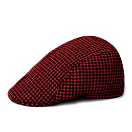 British Style Hoodstooth Outdoor Beret Hat