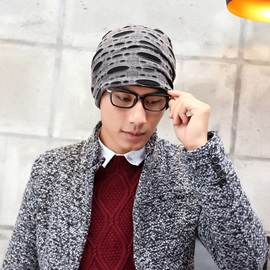 Plain Cotton Knitted Men's Hoop Hats