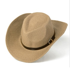 Hemming Shade Summer Straw Cowboy Men's Hat