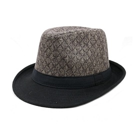 Fashion Flat Brim Men's Jazz Hat