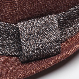 British Style Knitted Strap Decorated Men's Jazz Hat