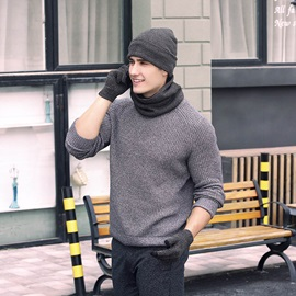 Hot Sale Knitted Warmth 3-Piece Set(Include Hat,Scarf,and Gloves)