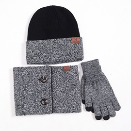 Winter Knitted Windproof 3-Piece Set(Including Hat, Collar and Gloves)