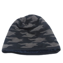 Knitted Warmth Leopard Print Men's Beanie Hat