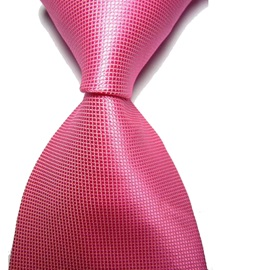 Solid Color Grid Jacquard Men's Skinny Necktie
