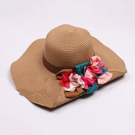 Chic Top Quality Pure Color Flowers Hat