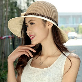 Delicate Straw-weaved Flower Decorated Sun Hat
