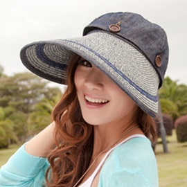 Removable Top with Big Brim Sun Hat
