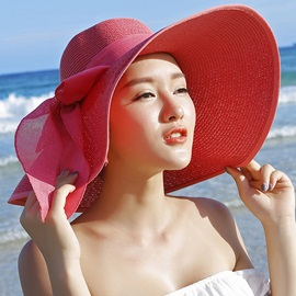 Beautiful Uv Protection with Bowtie Sun Hat