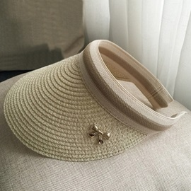 Visor Crown Design Concise Sunscreen Straw Hat
