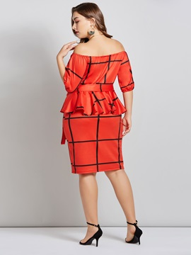 Double-Layer Backless Plus Size Women's Bodcyon Dress