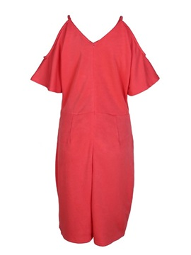 Short Sleeve V-Neck Knee-Length Pullover Off Shoulder Women's Dress