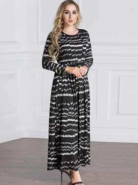 Long Sleeve Geometric Expansion Women's Dress