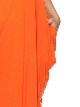 Plus Size Ankle-Length Sleeveless Pocket Women's Maxi Dress