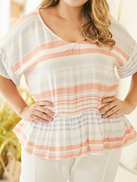 Plus Size Stripe Loose Women