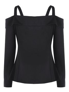 Off Shoulder Double-Breasted Plus Size Women's Jacket