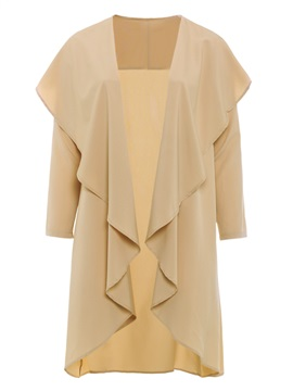 Plus Size Lapel Mid-Length Loose Long Sleeve Women's Trench Coat