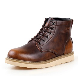 England Round Toe Lace-Up Men's Workboots