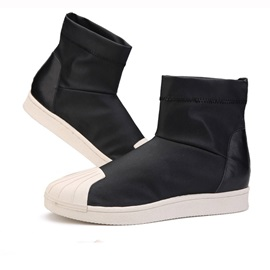 Color Block Slip-On Boots