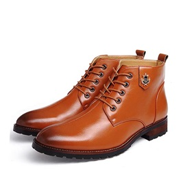 British Square Heel Lace-Up Martin Boots
