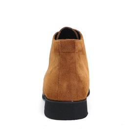 Suede Round Toe Lace-Up Booties for Men